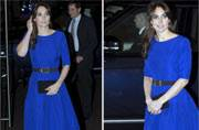 Kate Middleton charms in a blue dress by Indian origin designer Saloni Lodha