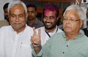 Nitish, Lalu celebrate their win in Bihar