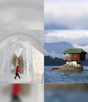 A house that lets you adjust your window-view to a building shaped like a lavatory (yup!)--here are 18 of the most unusual buildings and homes around the world.