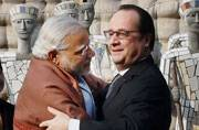 PM Narendra Modi and French President Francois Hollande