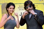 R Madhavan and Ritika Singh along with producer Rajkumar Hirani have kick-started the promotions of their upcoming film Saala Khadoos. The film will hit the screens on January 29 this year.