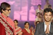 Amitabh Bachchan played show-stopper for Vikram Phadnis' fashion show