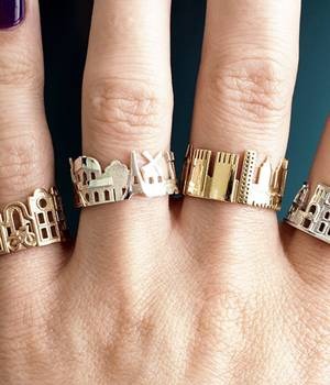 Wouldn't it be great that you can wear the ring of your beloved city on your finger or have it with you as a souvenir.