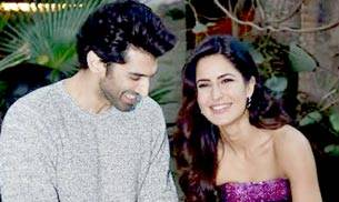Katrina Kaif and Aditya Roy Kapoor along with director Abhishek Kapoor launched the romantic track Pashmina from their upcoming film Fitoor at Lodhi Gardens in New Dehli.