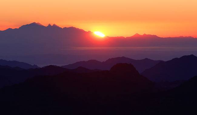 Mount Sinai, also known as Mount Horeb, is said to be the mountain which Moses had climbed to get the Ten Commandments from God. The sunrise looks beautiful from the summit. Picture courtesy: Reuters