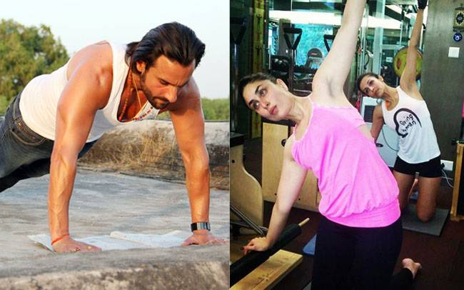 Fitness,Celebrity,Couple,Exercise,Yoga,Bollywood,Wellness,Kareena kapoor,Saif ali khan,Deepika padukone,Rabir singh,Bipasha Basu,Karan singh grover,Karan kundra,Karanvir bohra,Anusha,Teejay,Upen patel,Karishma tanna