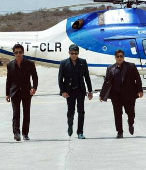 Kapil Sharma and his team members, all dressed in black, walk together in the first look of the promo shoot of their new show.