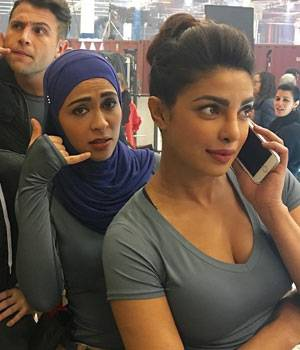 """She says her body feels """"battered"""" due to the long working hours, but actress Priyanka Chopra says she loves her job. And, there's one thing that keeps this wonder woman going--her happy-go-lucky nature and sense of humour."""