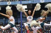 Cheerleaders spice up T20 cricket