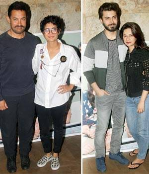 The who's who of B-Town, from Aamir Khan and Kiran Rao to Karan Johar and Anushka Sharma were clicked at a screening of Sidharth Malhotra, Fawad Khan and Alia Bhatt's upcoming film Kapoor And Sons.