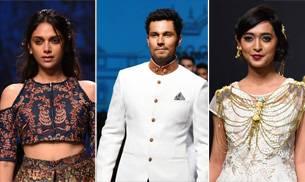 Bollywood celebs Randeep Hooda, Aditi Rao Hydari and Sayani Gupta added Bollywood glamour to the ramp on the third day of ongoing Amazon India Fashion Week Autum Winter 2016.