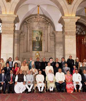 Padma Awards recipients at Rashtrapati Bhavan