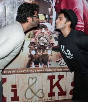 Ranveer Singh, Bhumi Pednekar, Arshad Warsi and other B-Town celebs joined Arjun Kapoor for the screening of his upcoming film Ki And Ka.