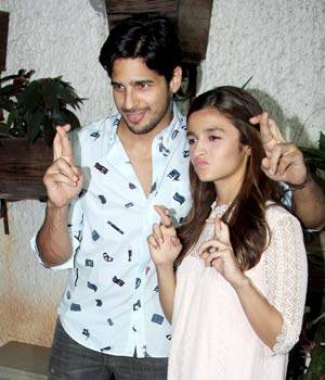 As Kapoor and Sons hit the screens on March 18, Alia Bhatt and Sidharth Malhotra have kept their fingers crossed. The rumoured couple will be seen onscreen together in Shakun Batra's upcoming romantic comedy.