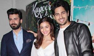 Sidharth Malhotra, Alia Bhatt and Fawad Khan's film Kapoor And Sons has crossed the Rs 50-crore mark at the box office. The whole team celebrated the success of their with the media.