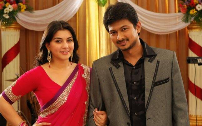Manithan is an upcoming Tamil film with Udhaynithi Stalin, Hansika Motwani and Vivekh in the lead roles. Touted to be a courtroom comedy, the film is directed by I Ahmed. It is also said that Manithan is an official remake of Hindi film Jolly LLB.