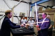 Prince William and Prince Harry left quite an imprint on the people present at the Pinewood Studios, UK, when they decided to pay a visit to the Star Wars sets.