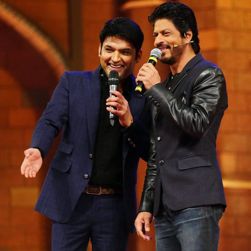 Kapil Sharma and his squad--Ali Asgar, Sunil Grover, Sumona Chakravarti, Kiku Sharda, Chandan Prabhakar and others, shot the first episode of The Kapil Sharma Show with Shah Rukh Khan in Delhi on Monday.
