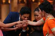 King Khan recently visited the sets of Comedy Nights Bachao to promote his upcoming film Fan. While the superstar was in his elements, actors of the show too, left no stone unturned to entertain the Badshah of Bollywood.
