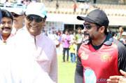 suriay and rajinikanth at Natchathira cricket match
