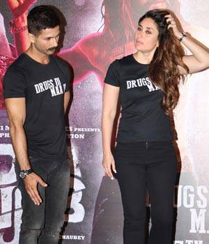 While ex-flames Kareena Kapoor Khan and Shahid Kapoor may not share screen space in their upcoming film Udta Punjab, but have finally reunited for the trailer launch. The duo was accompanied by their co-actors Alia Bhatt and Diljit Dosanjh.