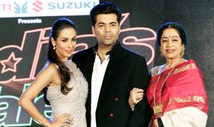 Malaika Arora Khan, Karan Johan and Kirron Kher at the launch of India's Got Talent season 7.