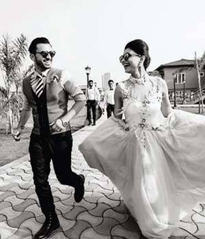 Dimpy Ganguly and Rohit Roy