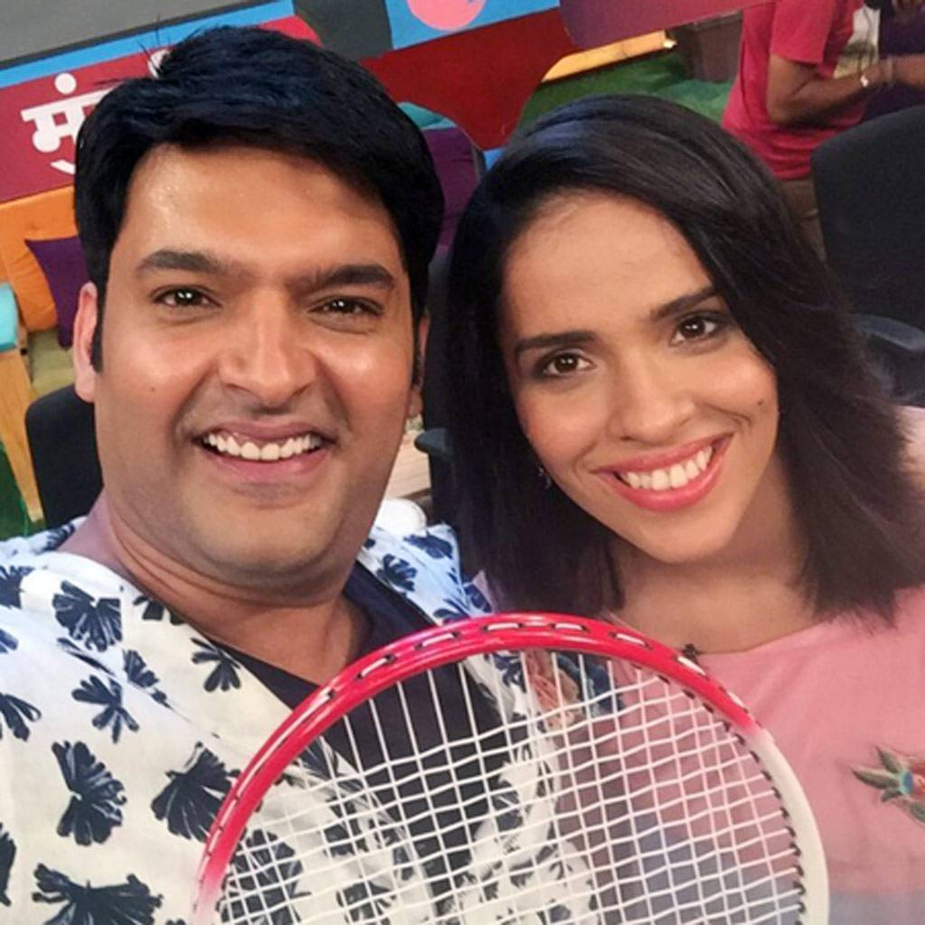 Looks like Saina Nehwal gave badminton lessons to Kapil Sharma and his team when she appeared on the ace comedian's show for the second time. Her first appearance was on Comedy Nights With Kapil. The ace badminton player had a blast on The Kapil Sharma Sh