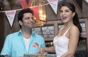 Looks like Jacqueline Fernandez and chef Kunal Kapur had tonnes of fun cooking together!
