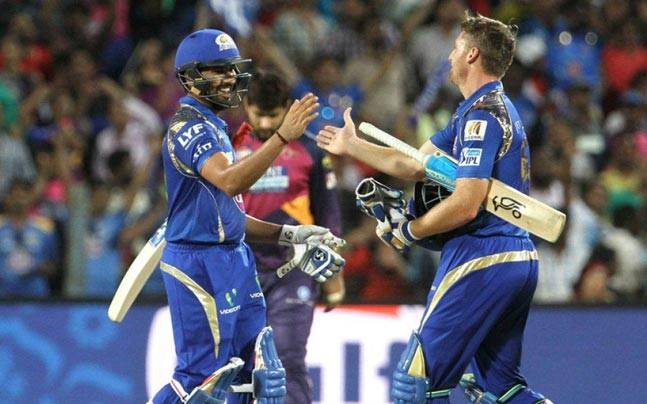 Mumbai Indians skipper Rohit Sharma smashed a match-winning unbeaten 85 off 60 balls to power the defending champions to an 8-wicket win over MS Dhoni's Pune Supergiants in a blockbuster IPL encounter on Sunday.
