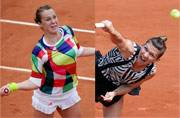 Cutouts to stripes: Fashion at the French Open takes a graphic turn