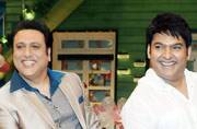 Days after Vashu Bhagnani announced the sequels of David Dhawan's Govinda-starrer movies Bade Miyan Chhote Miyan and Hero No. 1, the star was spotted shooting on the sets of The Kapil Sharma Show. In this pic, he's seen shaking a leg with show host Kapil
