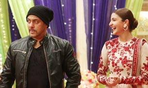 Salman Khan promoted his upcoming film Sultan on the Colors TV show Udaan with his co-star Anushka Sharma. However, the 'raped woman' remark and controversy seems to have taken a toll, as the actor is hardly seen smiling in these pics, while Anushka looks