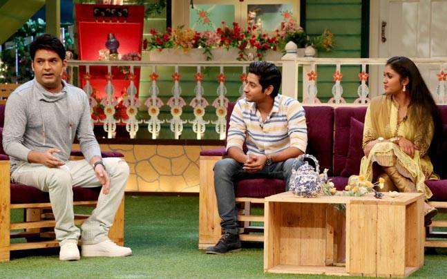 The Kapil Sharma Show will next host the team of Marathi film Sairat, a movie that amassed over Rs 80 crore on Indian box office. Here are pictures from the sets.