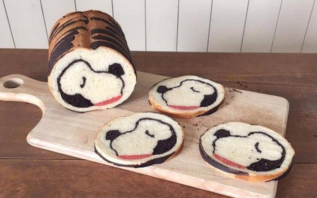 A Japanese baker created these loaves of what look like ordinary bread. Slicing them reveals the creative and edible art within.
