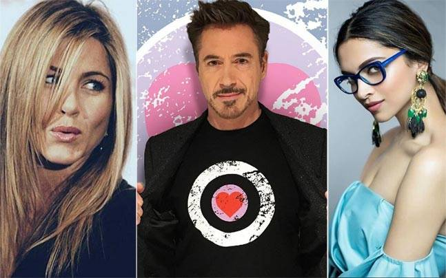 Robert Downey Jr.,Jennifer Aniston,Deepika Padukone