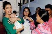 Celeb Spotting: Priyanka meets baby Ahil, Saif gets discharged