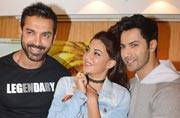Dishoom stars Varun, Jacqueline and John promote film, and Katrina Kaif, Arjun Rampal, Sushant Singh Rajput spotted at the airport.