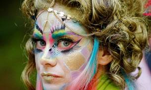 From ultraviolet light paint to fancy headgear--the recently held World Bodypainting Festival in Austria had it all.