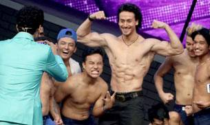 Tiger Shroff not only showcased his dancing skills while promoting his upcoming Remo D'Souza film The Flying Jatt--where he's playing a different kind of superhero--he also flaunted his chiselled body. Take a look.