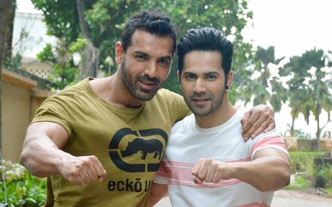 Varun Dhawan and John Abraham were recently spotted at the JW Mariott hotel in Juhu while Riteish Deshmukh, Urvashi Rautela and Vivek Oberoi were busy promoting Great Grand Masti.