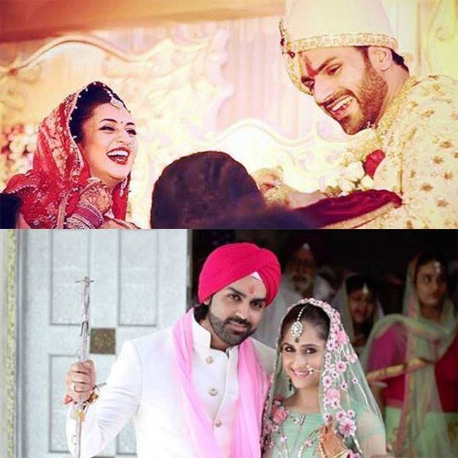 Popular TV actors Divyanka-Vivek, and Hunar-Mayank got hitched recently.