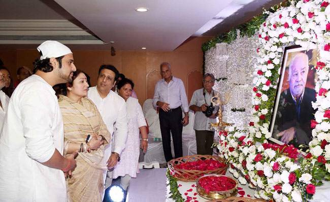 Krushna Abhishek's father Aatma Prakash Sharma passed away on August 26. The Comedy Nights Bachao host's friends and well wishers from TV industry and Bollywood attended the prayer meet.