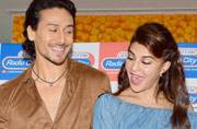 Tiger Shroff and Jacqueline Fernandez were clicked at the song launch of Beat Pe Booty from their upcoming film A Flying Jatt.