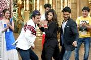 Sambhavna Seth shaking a leg on the sets of Comedy Nights Bachao.