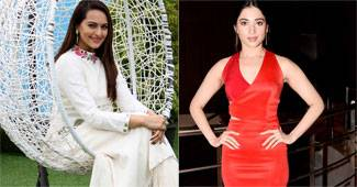 While Sonakshi Sinha was snapped at a promotional event for her upcoming film Akira, Tamannah Bhatia was seen launching a new ad for a food brand with Ranveer Singh, directed by Rohit Shetty.