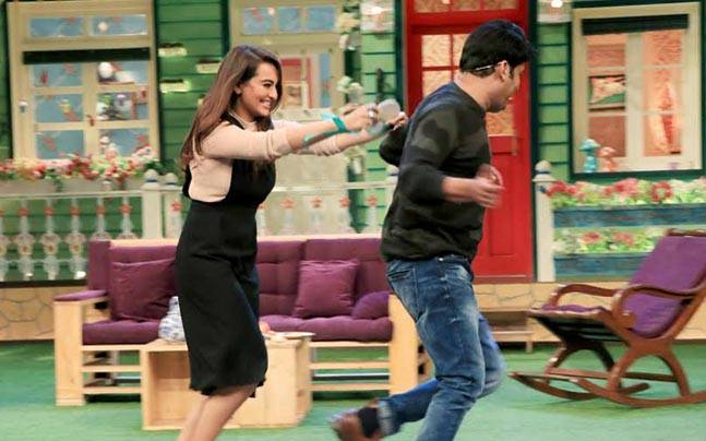 Sonakshi Sinha and Kapil Sharma had a blast while shooting for the latest episode of The Kapil Sharma Show.