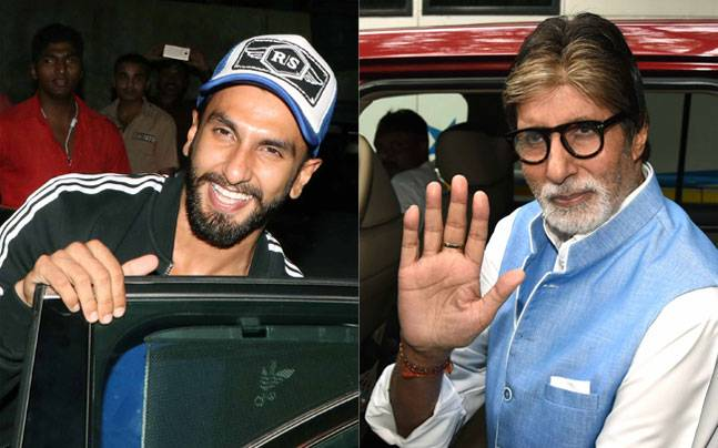 Ranveer stopped by at mentor Sanjay Leela Bhansali's office, while Amitabh Bachchan was seen entering Mehboob Studios.