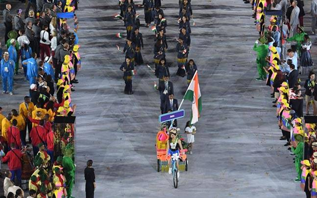 Indian contingent at the Rio Olympics