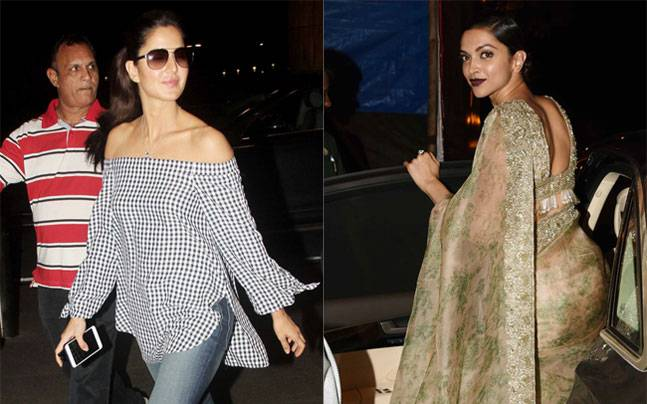 Katrina Kaif was seen entering the airport for the promotions of her upcoming film Baar Baar Dekho, while Deepika Padukone was seen leaving Olive after participating in Sabyasachi's finale show of Lakme Fashion Week, 2016.